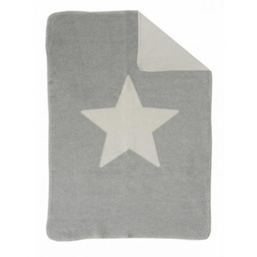 Бебешко одеяло Niki - Сива звезда